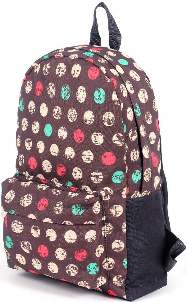 Рюкзак мужской Юпитер, цвет: коричневый. 196481196481Повседневный рюкзак с яркими принтами торговой марки Юпитер с одним отделением и внутренним карманом имеет внешний карман, закрывающийся на молнию, станет отличным проявлением твоей индивидуальности.