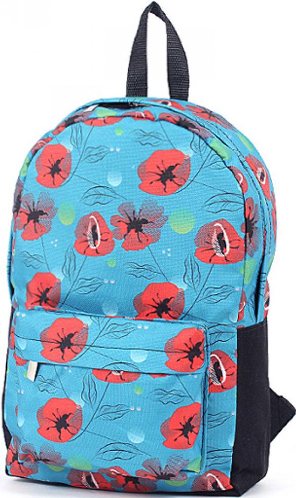 Рюкзак женский Юпитер, цвет: синий. 196527196527Повседневный рюкзак с яркими принтами торговой марки Юпитер с одним отделением и внутренним карманом имеет внешний карман, закрывающийся на молнию, станет отличным проявлением твоей индивидуальности.