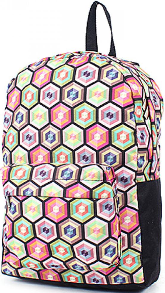 Рюкзак женский Юпитер, цвет: розовый. 196563196563Повседневный рюкзак с яркими принтами торговой марки Юпитер с одним отделением и внутренним карманом имеет внешний карман, закрывающийся на молнию, станет отличным проявлением твоей индивидуальности.