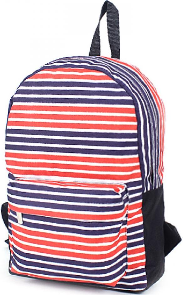 Рюкзак женский Юпитер, цвет: синий. 196571196571Повседневный рюкзак с яркими принтами торговой марки Юпитер с одним отделением и внутренним карманом имеет внешний карман, закрывающийся на молнию, станет отличным проявлением твоей индивидуальности.