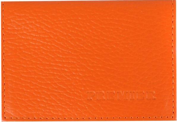 Визитница женская Premier, цвет: оранжевый. 197824