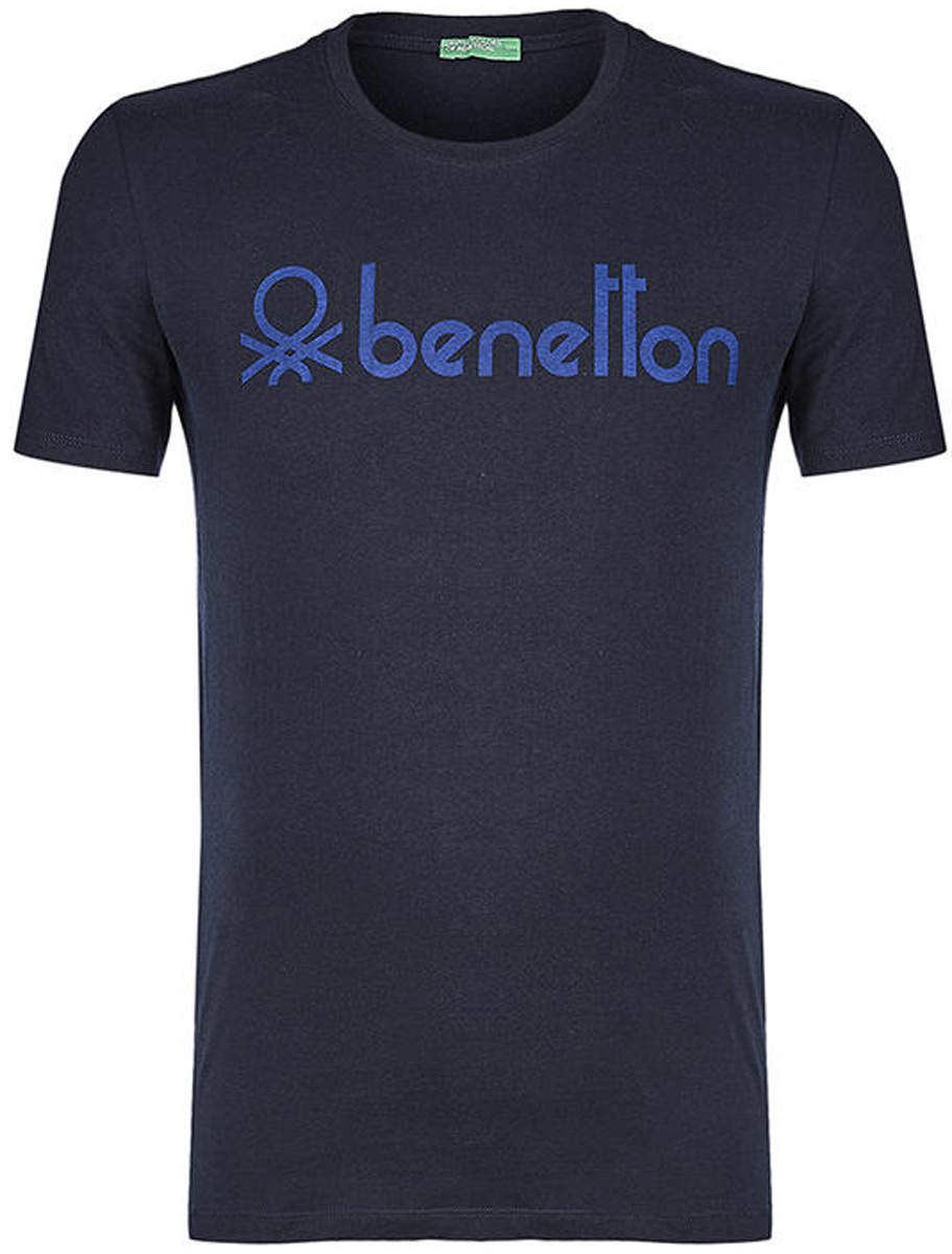 Футболка мужская United Colors of Benetton, цвет: темно-синий. 3I1XJ1F08_06U. Размер XL (52/54)3I1XJ1F08_06UФутболка от United Colors of Benetton выполнена из натурального хлопкового трикотажа. Модель с короткими рукавами и круглым вырезом горловины спереди оформлена брендированным принтом.
