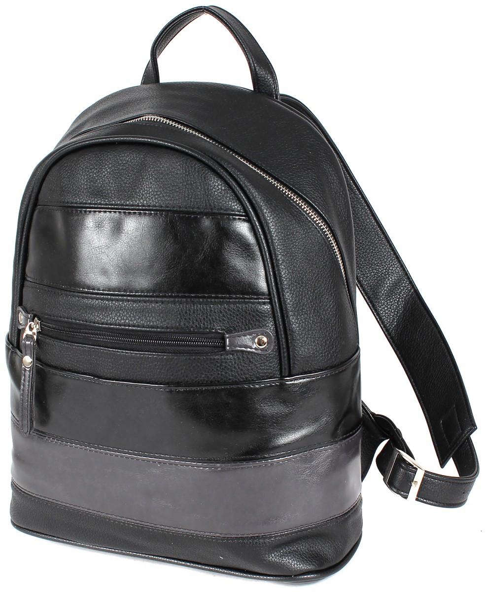 Рюкзак женский Gera, цвет: черный. 200156200156Женский рюкзак выполнен из искусственной кожи, имеет одно внутреннее отделение.