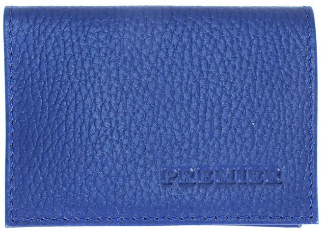 Визитница мужская Premier, цвет: синий. 200284 визитница женская premier цвет темно зеленый 193681
