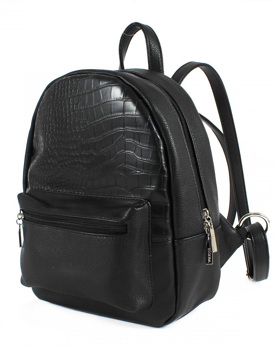 Рюкзак женский Gera, цвет: черный. 200809 сумки gera сумка