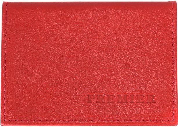 Визитница женская Premier, цвет: красный. 202028