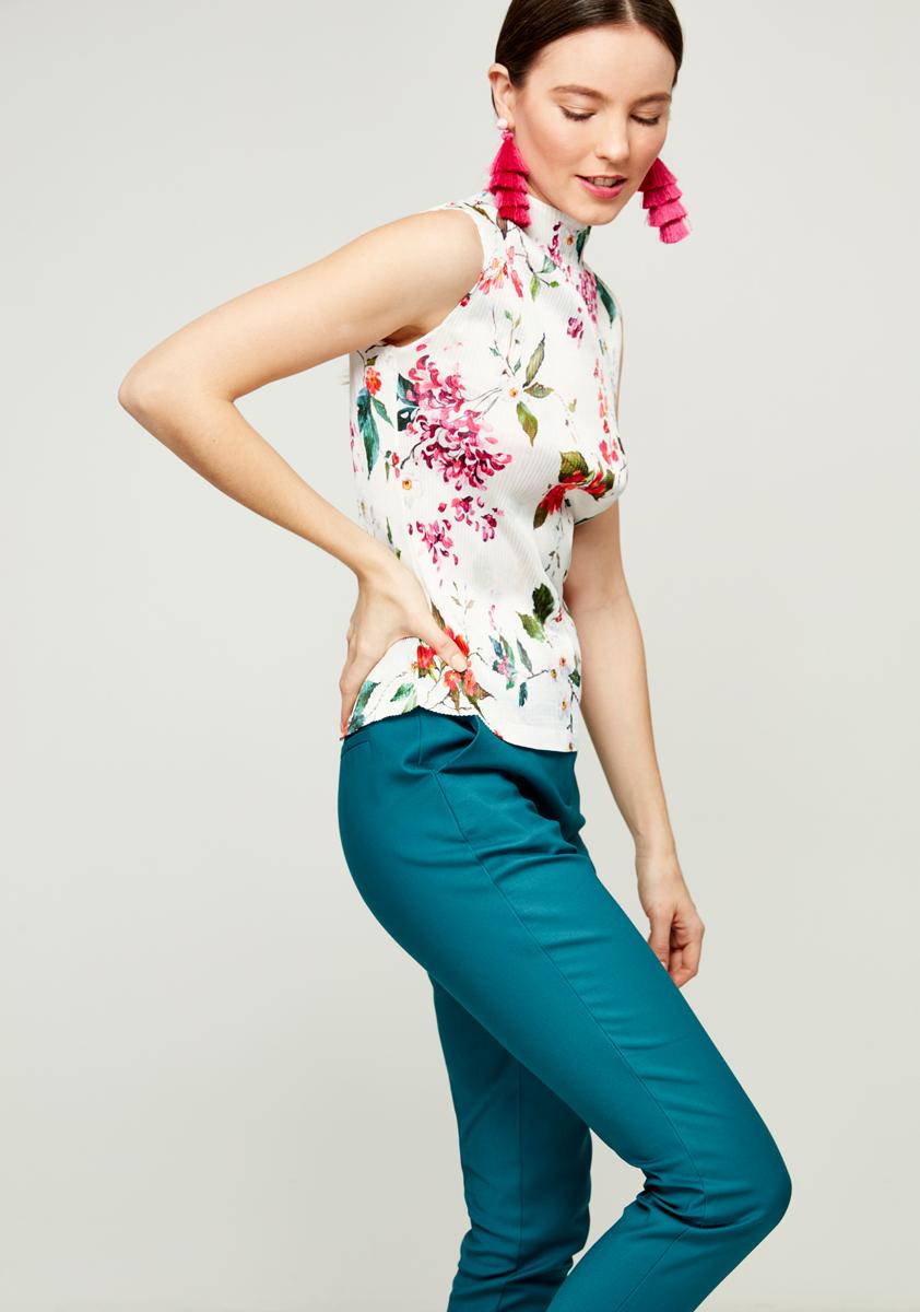 Блузка женская Zarina, цвет: белый. 8122093324004. Размер 46