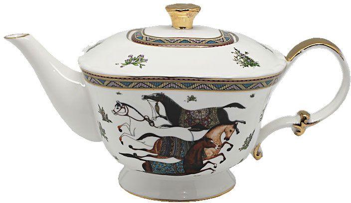 Чайник заварочный Lenardi Лошади, 700 мл208-134Заварочный чайник изготовлен из высококачественной фарфора. Посуда из данного материала позволяет максимально сохранить полезные свойства и вкусовые качества воды. Украшенные изящным рисунком стенки чайника, придают ему эстетичности на столе. Чайник изысканно украсит стол к чаепитию и порадует вас дизайном и качеством исполнения.