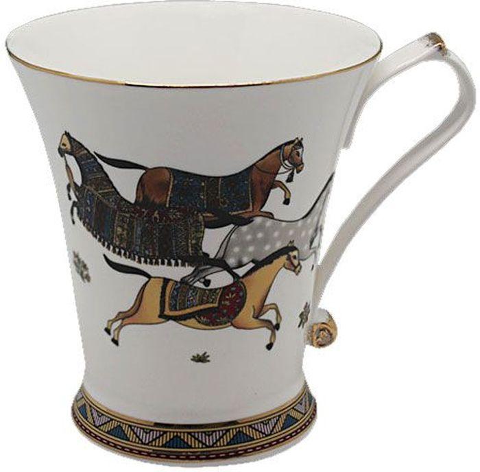 Кружка Lenardi Лошади, 300 мл208-136Пить чай всегда хочется не торопясь и с удовольствием, особенно приятно, когда в руках красивая посуда, которая помогает раскрыть все нотки вкуса настоящего напитка. Любому поднимет настроение и окунет в мир наслаждения стильная кружка Лошади.