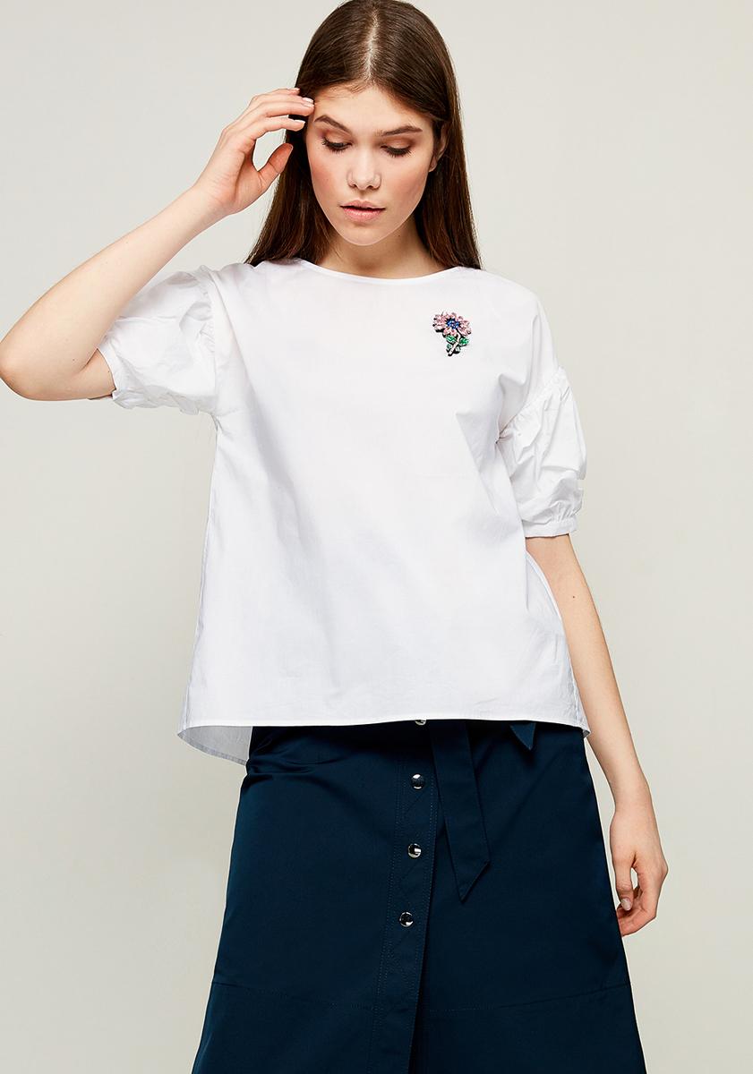 Блузка женская Zarina, цвет: белый. 8123090320001. Размер 48