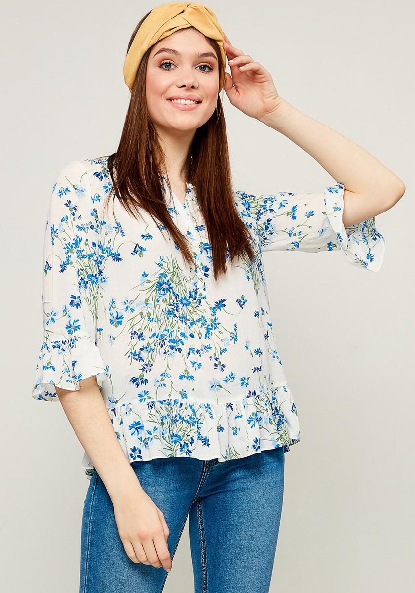 Блузка женская Zarina, цвет: голубой. 8123082312042. Размер 50 блузка женская averi цвет голубой 1440 размер 50 52