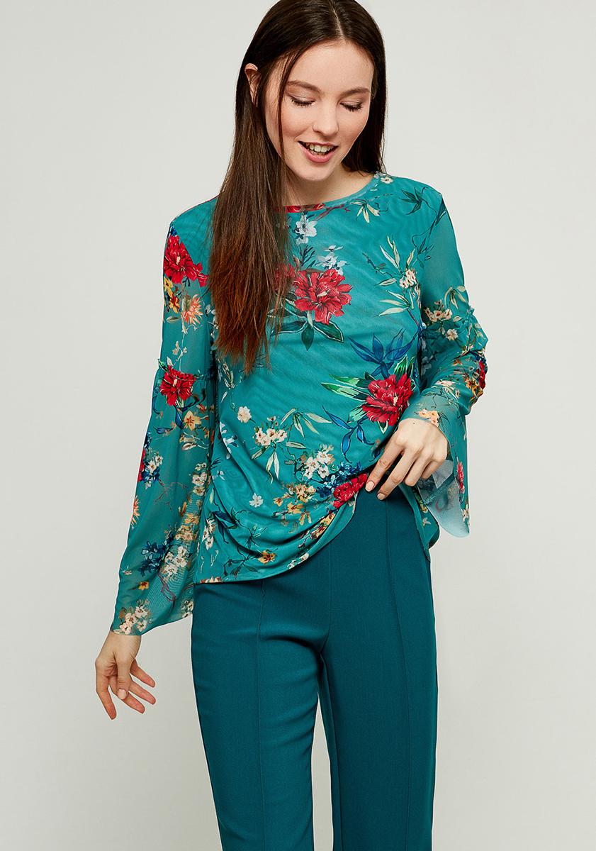 Блузка женская Zarina, цвет: зеленый. 8123516416015. Размер XL (50) блузка женская zarina цвет розовый 8224507407094 размер xl 50