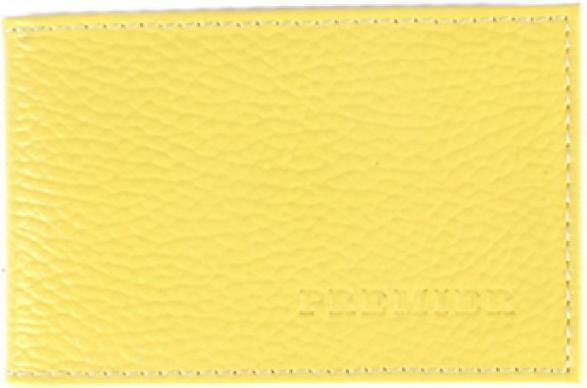 Визитница женская Premier, цвет: желтый. 194037