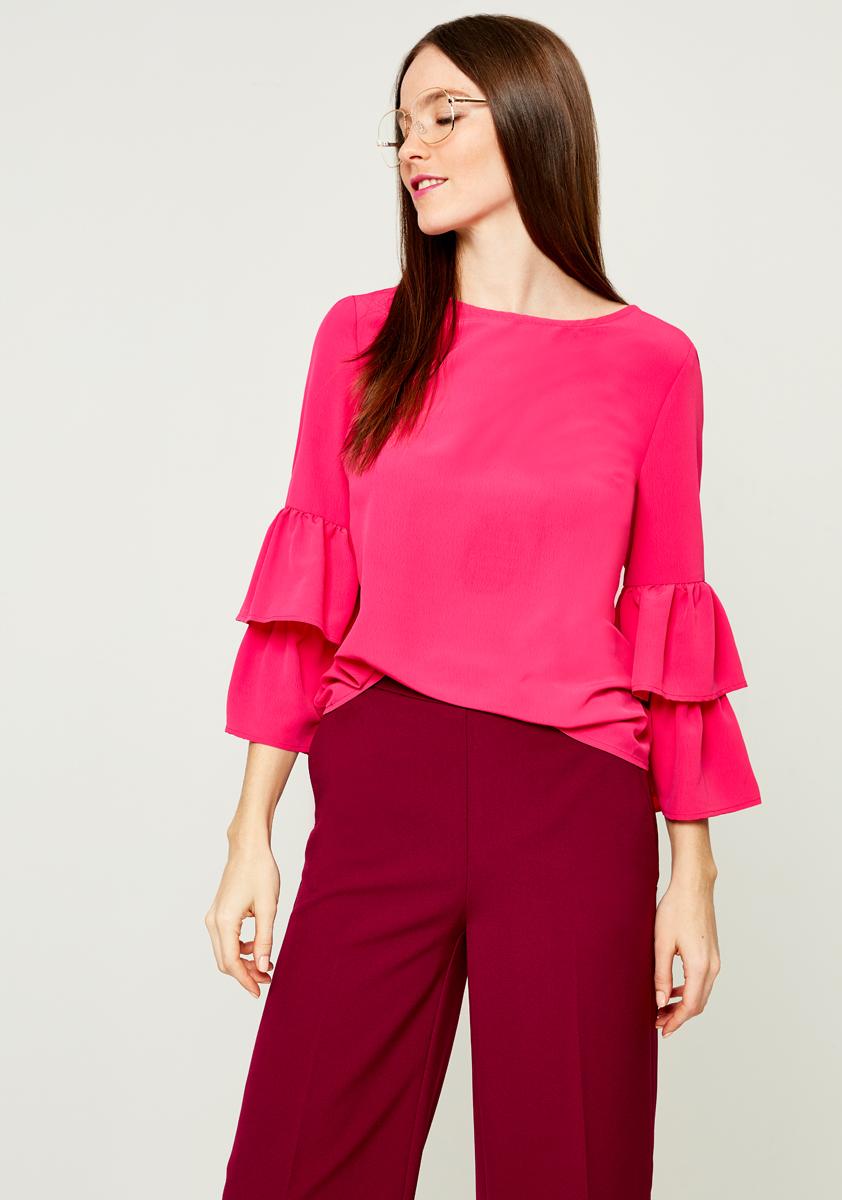 Блузка женская Zarina, цвет: розовый. 8121023315077. Размер 50 блузка женская zarina цвет розовый 8224507407094 размер xl 50