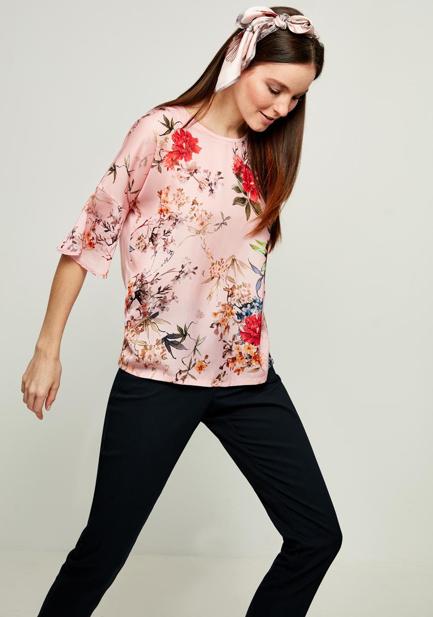 Блузка женская Zarina, цвет: розовый. 8123514414094. Размер XS (42) блузка женская zarina цвет зеленый 8224507407015 размер xs 42
