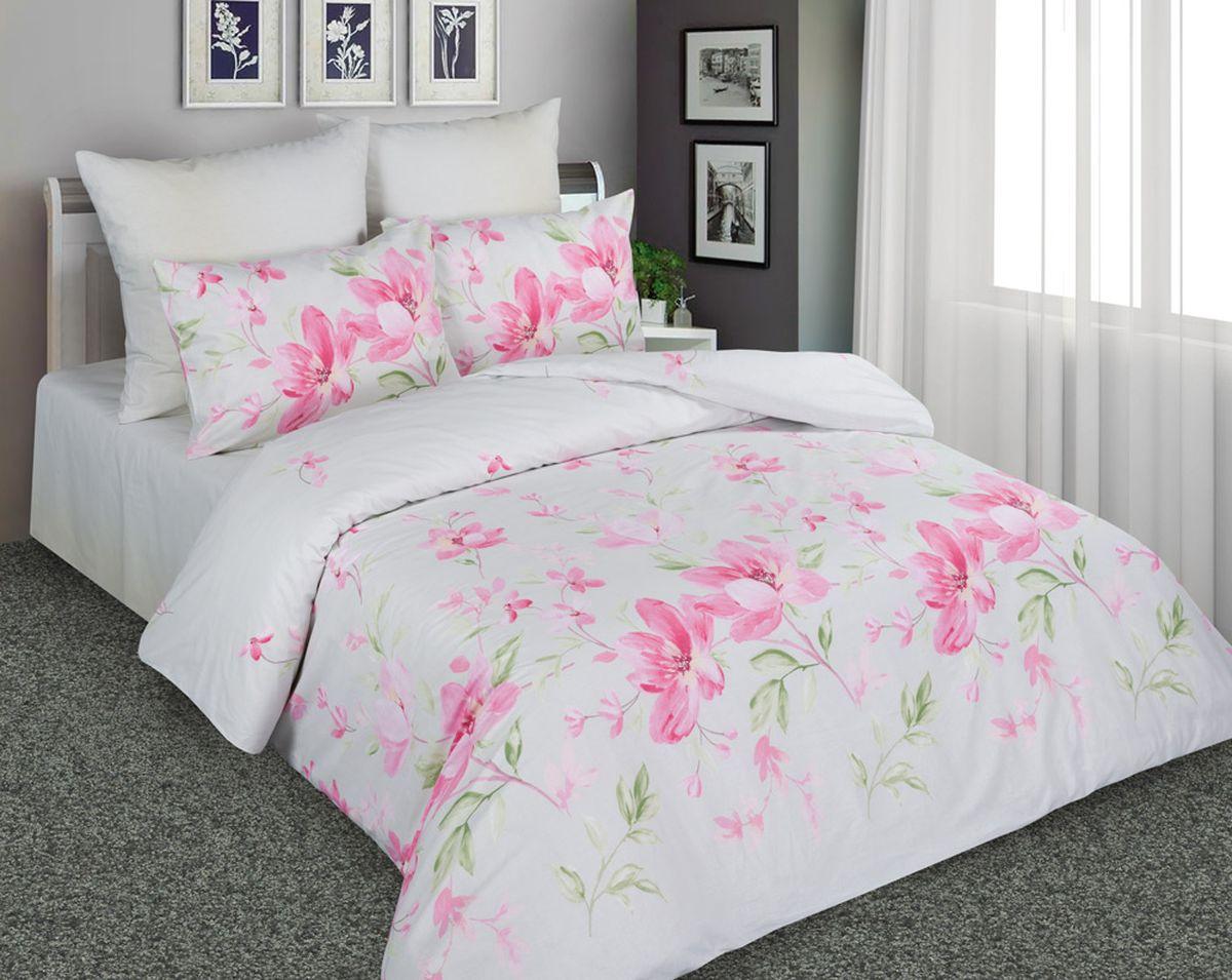 Комплект белья Amore Mio 7217/7218 2, 1,5-спальный, наволочки 70x70, цвет: белый, розовый