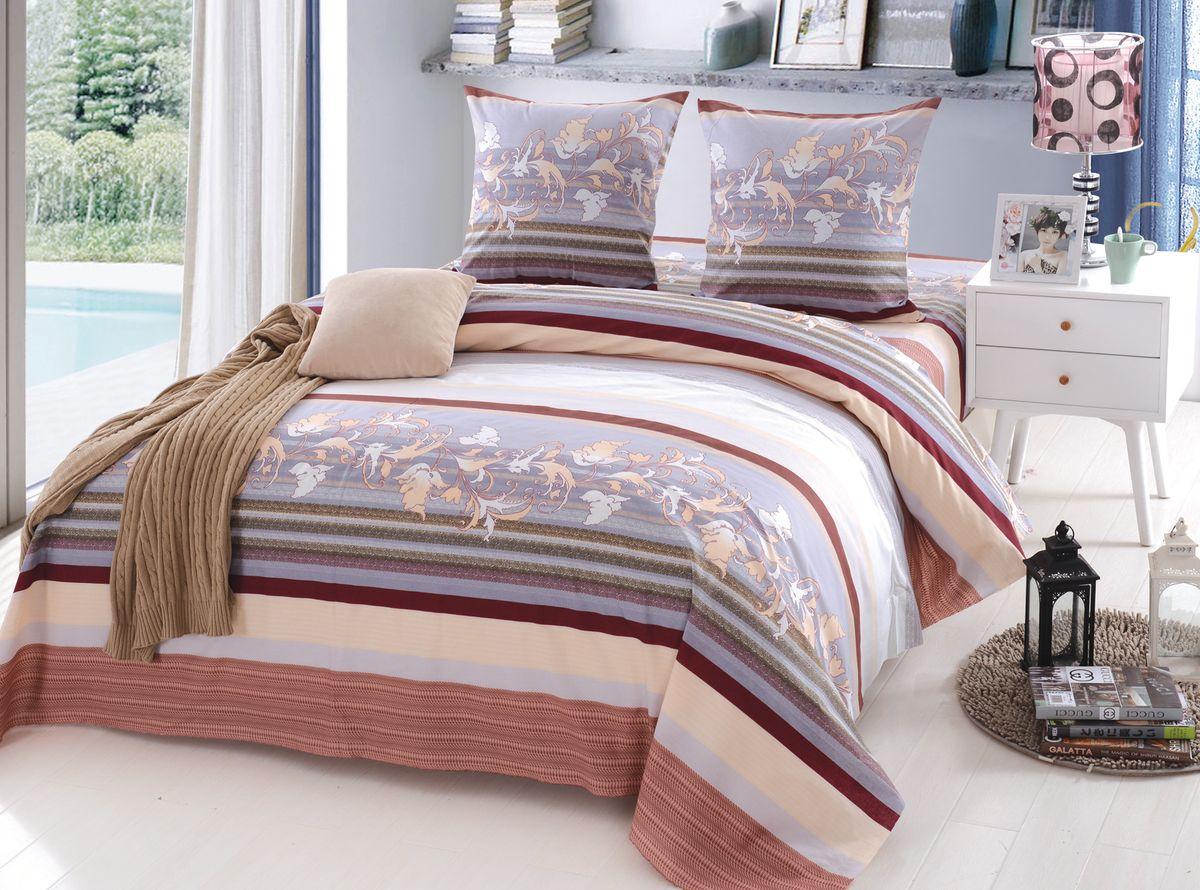 Комплект белья Amore Mio Terri, 1,5-спальный, наволочки 70x70, цвет: сиреневый1165Постельное белье Amore Mio из поплина - это оригинальный дизайн и отменное качество. Поплин ткань натуральная, а следовательно прекрасно вентилируется. На ощупь - это нечто среднее между сатином и бязью. Ткань плотная, но при этом мягкая. Постельные комплекты ТМ Amore Mio добавят тепла и уюта в интерьер любой спальни.
