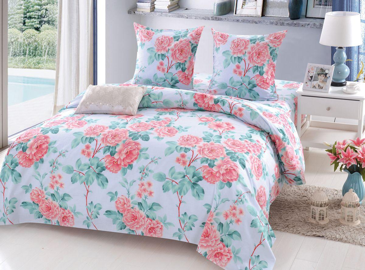 Комплект белья Amore Mio Belinda, семейный, наволочки 70x70, цвет: голубой постельное белье amore mio bz genoa комплект 1 5 спальный сатин 1061