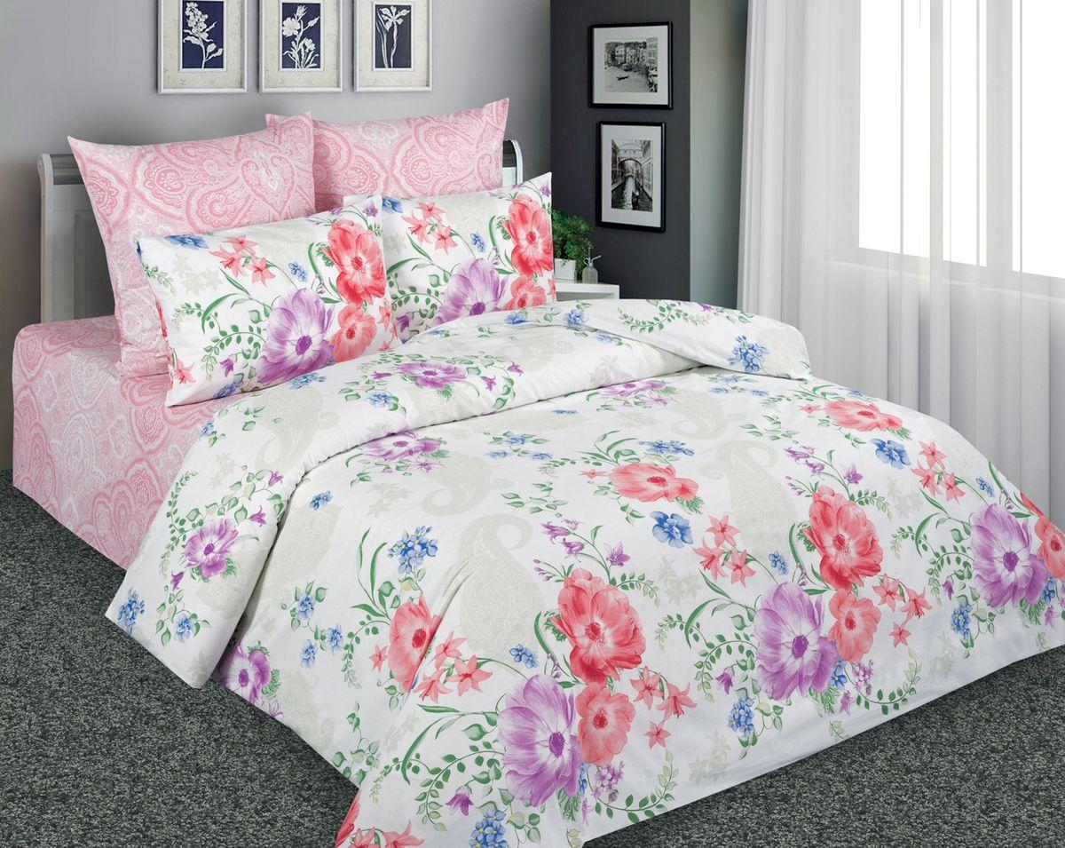 Комплект белья Amore Mio 10681/7169 1, 1,5-спальный, наволочки 70x70, цвет: розовый1663Постельное белье Amore Mio из перкали не только привлекательно внешне, но и практично. Оно прослужит вам долгие годы. Спать на нём одно удовольстве. Ткань гладкая, с небольшим шелковистым отливом. При правильном уходе комплект не потеряет ни цвет ни форму.