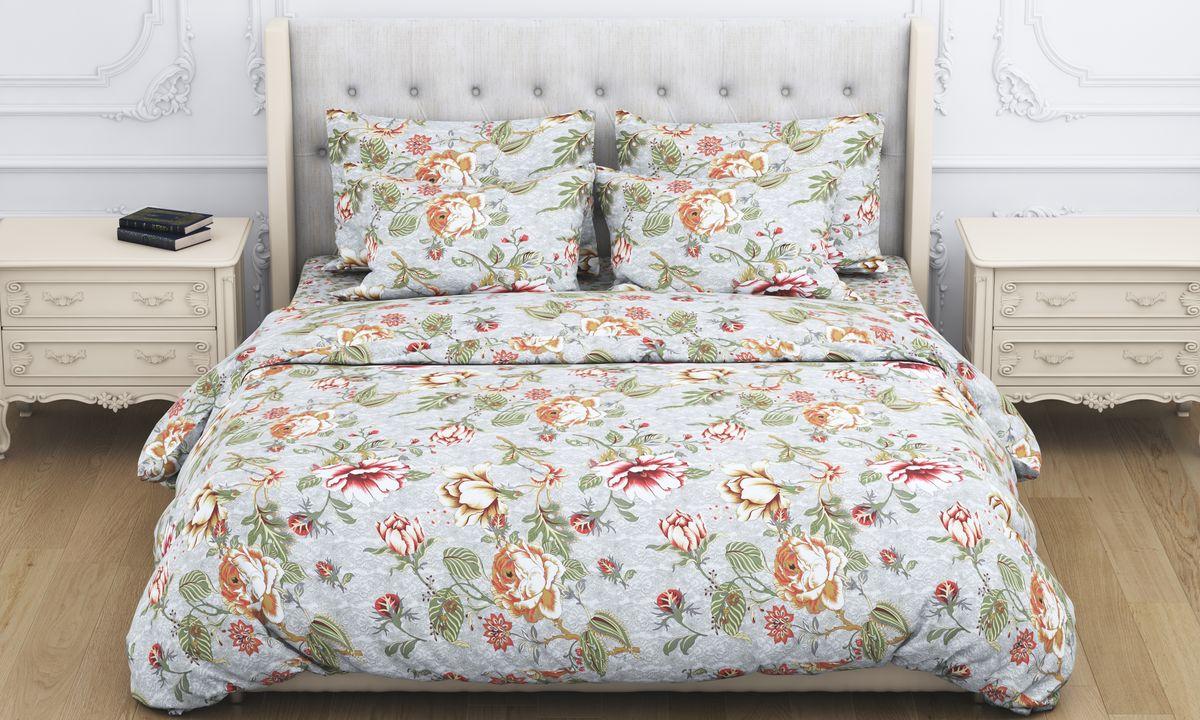 Комплект белья Amore Mio Giacint, 1,5-спальный, наволочки 70x70, цвет: голубой