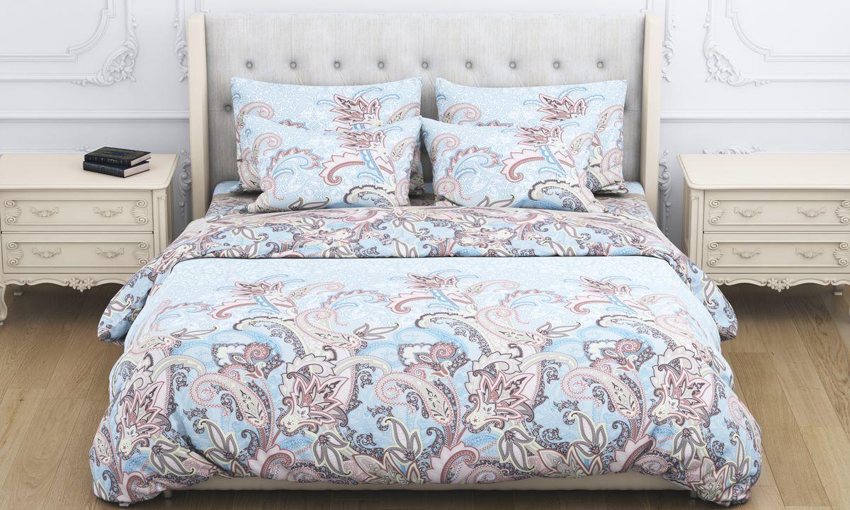 Комплект белья Amore Mio Shaherezada, 2-спальный, наволочки 70x70, цвет: коричневый постельное белье amore mio bz genoa комплект 1 5 спальный сатин 1061