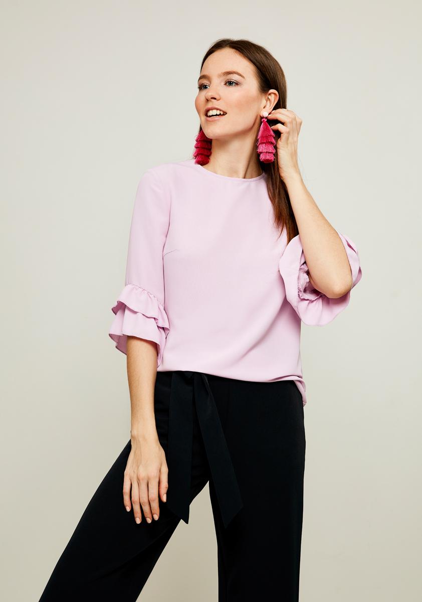 Блузка женская Zarina, цвет: сиреневый. 8122092320087. Размер 42 блузка женская zarina цвет белый 8224086316001 размер 42