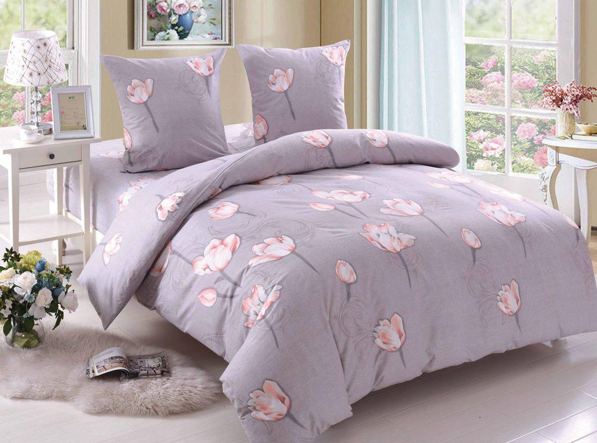Комплект белья Amore Mio Lilian, 1,5-спальный, наволочки 70x70, цвет: сиреневый постельное белье amore mio bz genoa комплект 1 5 спальный сатин 1061