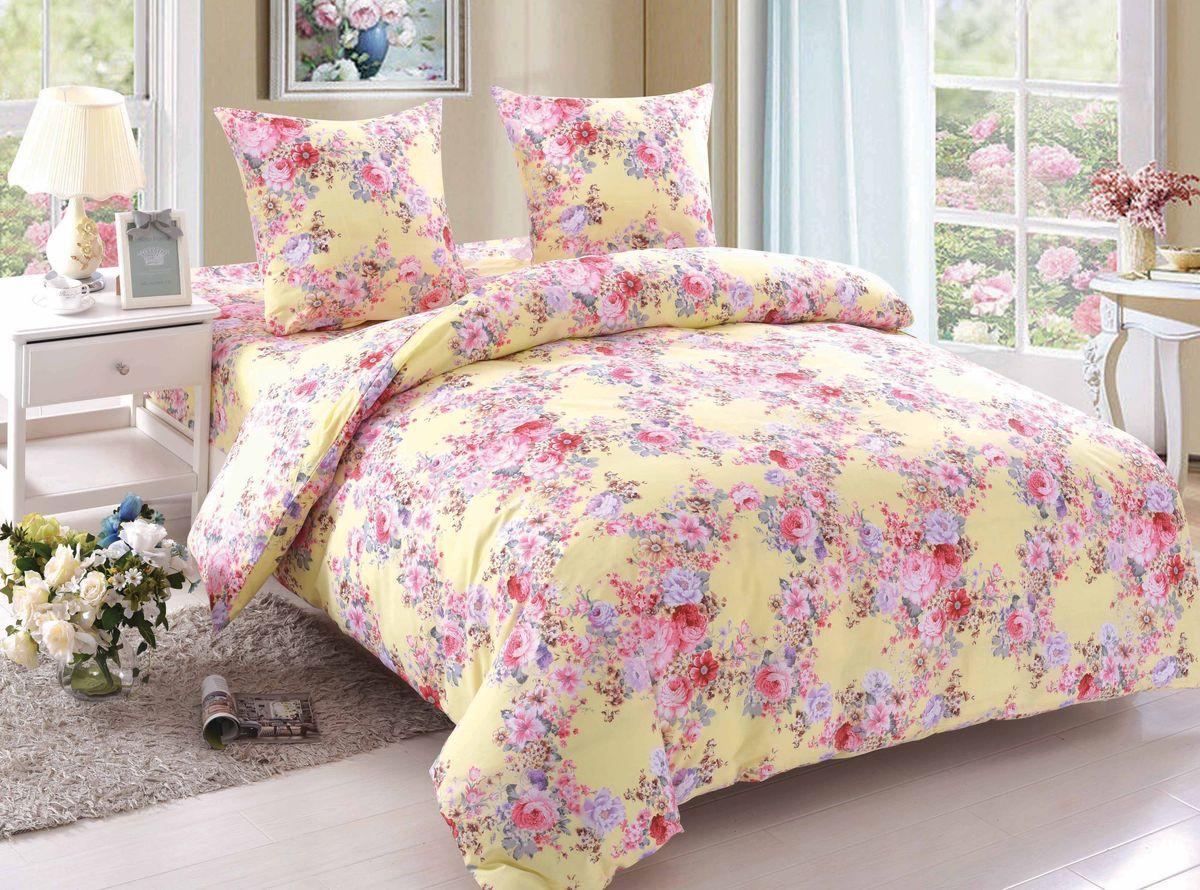 Комплект белья Amore Mio Trinity, евро, наволочки 70x70, цвет: желтый постельное белье amore mio bz genoa комплект 1 5 спальный сатин 1061