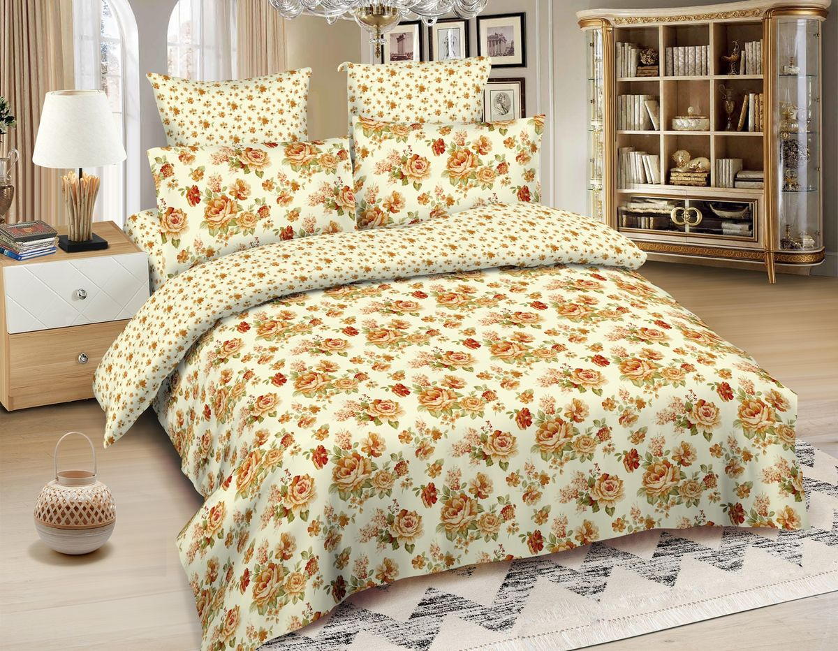 Комплект белья Amore Mio Kaunas, 1,5-спальный, наволочки 70x70, цвет: бежевый