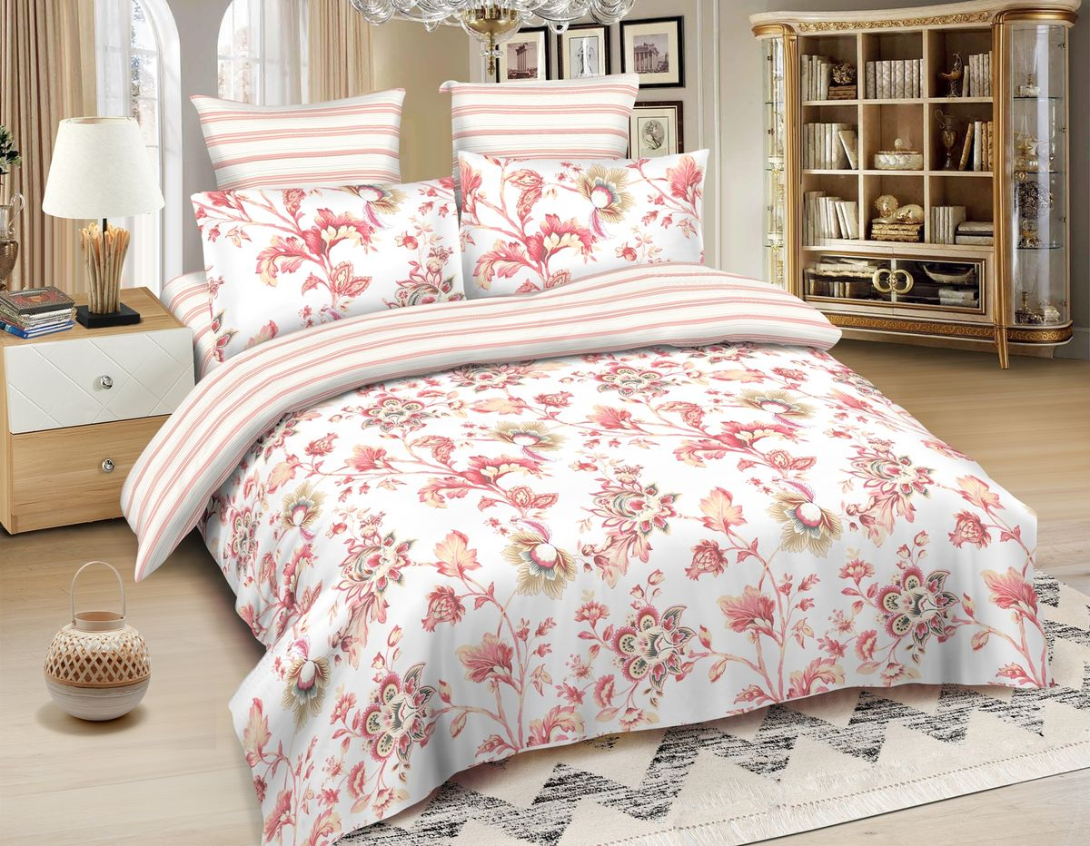 Комплект белья Amore Mio Kanpur, 2-спальный, наволочки 70x70, цвет: светло-розовый