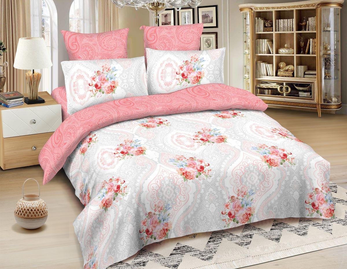 Комплект белья Amore Mio Quito, 2-спальный, наволочки 70x70, цвет: светло-розовый