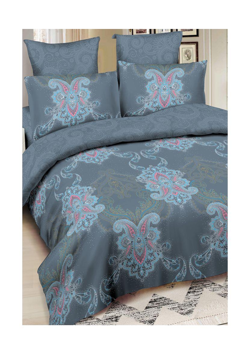 Комплект белья Amore Mio Chicago, 2-спальный, наволочки 70x70, цвет: серый