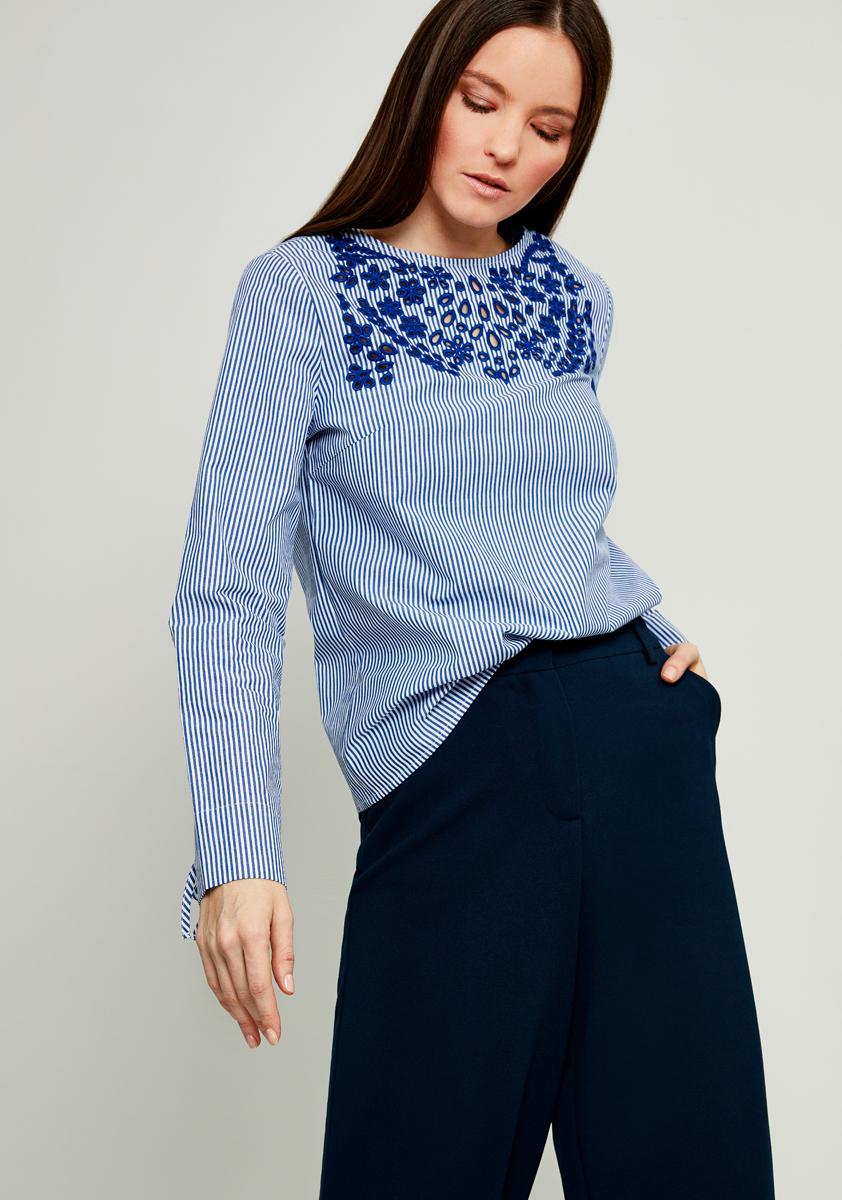 Блузка женская Zarina, цвет: темно-синий. 8122082312105. Размер 42 блузка женская zarina цвет белый 8224086316001 размер 42