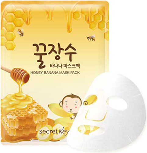 Secret Key Маска для лица с экстрактом банана и меда Honey Banana Mask Pack, 25 г