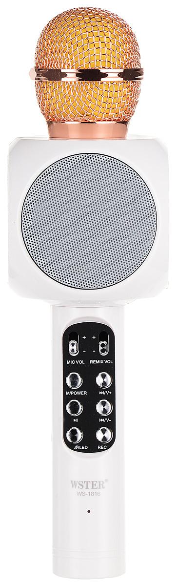 Karaoke Boom KB-WS1816RU, White микрофон