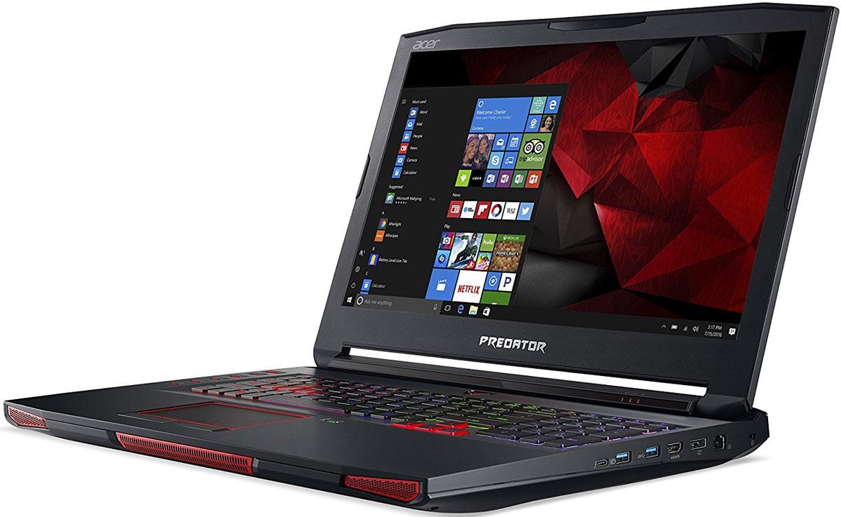 Acer Predator 17X GX-792-78JB, BlackGX-792-78JBРаскройте весь свой потенциал благодаря ноутбуку Acer Predator 17X GX-792 с производительностью игровогонастольного компьютера.NVIDIA G-Sync обеспечивает плавность игрового процесса за счет синхронизации кадров, обработанныхграфических процессором, с частотой обновления изображения на экране ноутбука. Это полностью устраняетпрерывистость и искажения изображения.Потенциал этого устройства поистине безграничен. Ноутбук оснащен новейшим процессором Intel Core i7седьмого поколения с разблокированным множителем и графической системой.Специально разработанная система охлаждения с тремя вентиляторами и фронтальным забором воздухапозволит раскрыть весь потенциал железа. Ультратонкий (0,1 мм) металлический вентилятор AeroBlade имеетулучшенную аэродинамику и обеспечивает превосходный обдув для охлаждения и очистки системы.PredatorSense позволит контролировать и настраивать различные игровые параметры: от RGB-подсветкиклавиатуры до оверклокинга. Отслеживайте температуру системы и процессора, а также скорость вращениявентиляторов в реальном времени. Разноцветную подсветку каждой клавиши и программируемые горячиеклавиши можно полностью настроить по своему желанию.Ускорьте работу с помощью 3 SATA в RAID 0 или твердотельного накопителя PCIe NVMe. USB-C Thunderbolt 3ускорит передачу данных и зарядку, а Killer DoubleShot Pro оптимизирует пропускную способность.Точные характеристики зависят от модели.Ноутбук сертифицирован EAC и имеет русифицированную клавиатуру и Руководство пользователя