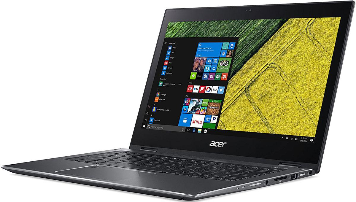 Acer Spin 5 SP513-52N-58QS, Dark Grey (NX.GR7ER.001)NX.GR7ER.001Благодаря чистому и минималистичному профилю дизайн ноутбука Acer Spin 5 всегда будет актуальным и стильным.Наслаждайтесь универсальностью этого устройства и приковывайте взгляды благодаря его стильному дизайну.Надежный механизм крепления Acer с возможностью поворота экрана на 360° обеспечивает четыре удобных режима работы Spin 5 с тонким и прочным корпусом.Воспользуйтесь преимуществами и удобством ноутбука с повышенной производительностью вычислений и усовершенствованными аудио- и графическими технологиями.Процессоры Intel и графические платы NVIDIA обеспечивают более быструю и плавную работу приложений.Технологии Acer TrueHarmony и Smart Amplification в сочетании с Dolby Audio Premium обеспечивают оптимальное качество звука.Гладкая металлическая крышка и полированные грани делают этот ноутбук стильным компаньоном для работы и развлечений.Благодаря продуманному расположению антенны Acer ExoAmp обеспечивается надежный сигнал Wi-Fi-соединения.Точные характеристики зависят от модели.Ноутбук сертифицирован EAC и имеет русифицированную клавиатуру и Руководство пользователя