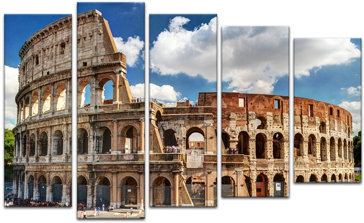 Картина модульная Картиномания Колизей в Риме, 90 х 57 смАРТ-М37SВ состав входит комплект креплений и инструкция по креплению на стену.