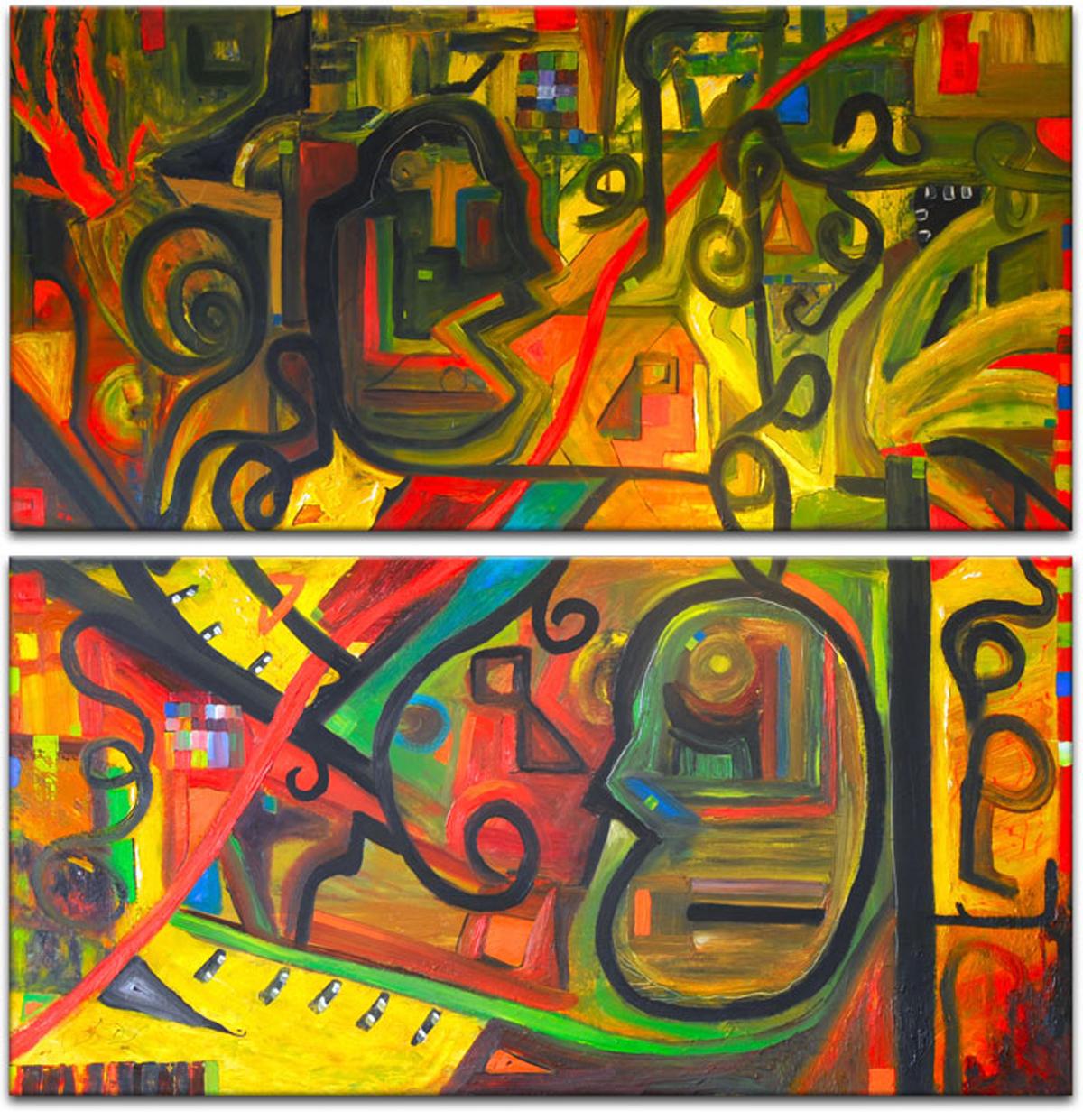Картина модульная Картиномания Каракули, 70 х 70 смАРТ-М422SМодульная картина Картиномания - это прекрасное решение для декора помещения. Картинасостоит из двух модулей. Цифровая печать. Холст натянут на деревянный подрамникгалерейной натяжкой и закреплен с обратной стороны. Изделие устойчиво к выцветанию. В состав входит комплект креплений и инструкция по креплению на стену.Уход: можно протирать сухой мягкой тканью.