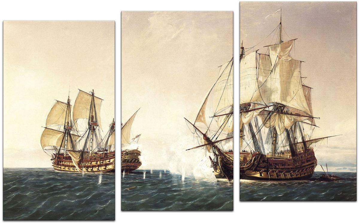 Картина модульная Картиномания Корабли в море, 90 х 57 смАРТ-М465SВ состав входит комплект креплений и инструкция по креплению на стену.