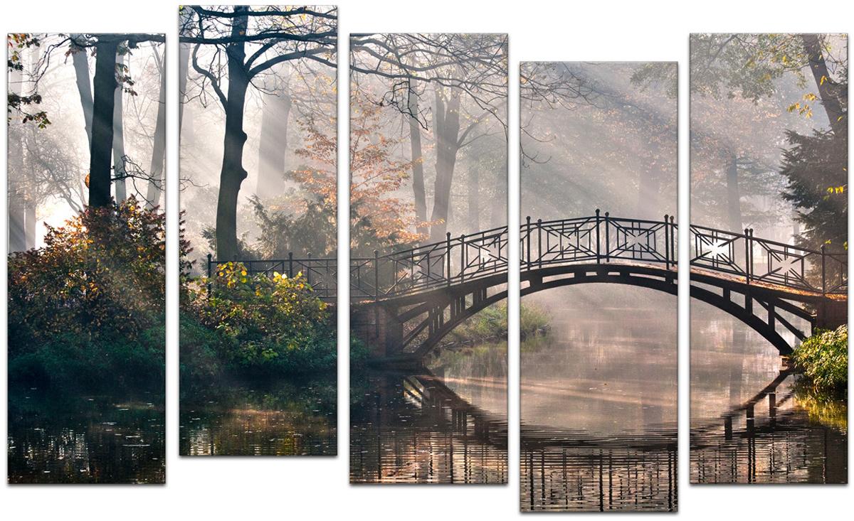 Картина модульная Картиномания Мост в Мистик-парке, 90 х 57 смАРТ-М664SВ состав входит комплект креплений и инструкция по креплению на стену.