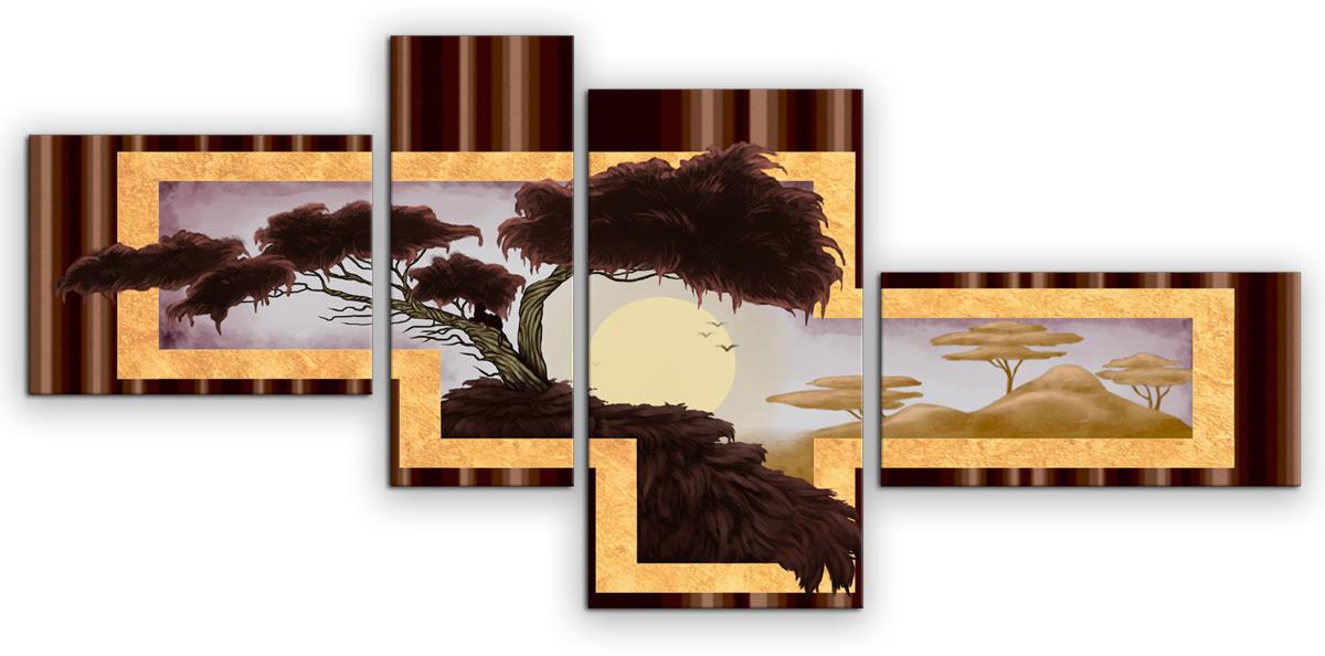 Картина модульная Картиномания Пейзаж Африки, 90 х 40 смАРТ-М712SВ состав входит комплект креплений и инструкция по креплению на стену.