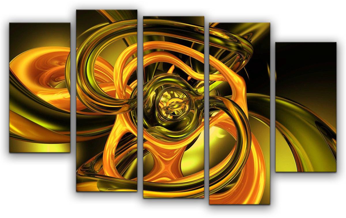 Картина модульная Картиномания Абстракция полиптих, 90 х 57 см картина модульная картиномания биг бен 90 х 57 см