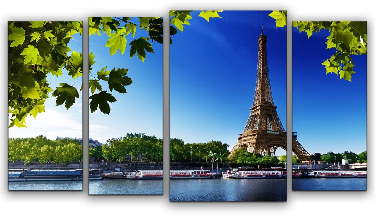 Картина модульная Картиномания Набережная Парижа, 90 х 50 смАРТ-М758SВ состав входит комплект креплений и инструкция по креплению на стену.