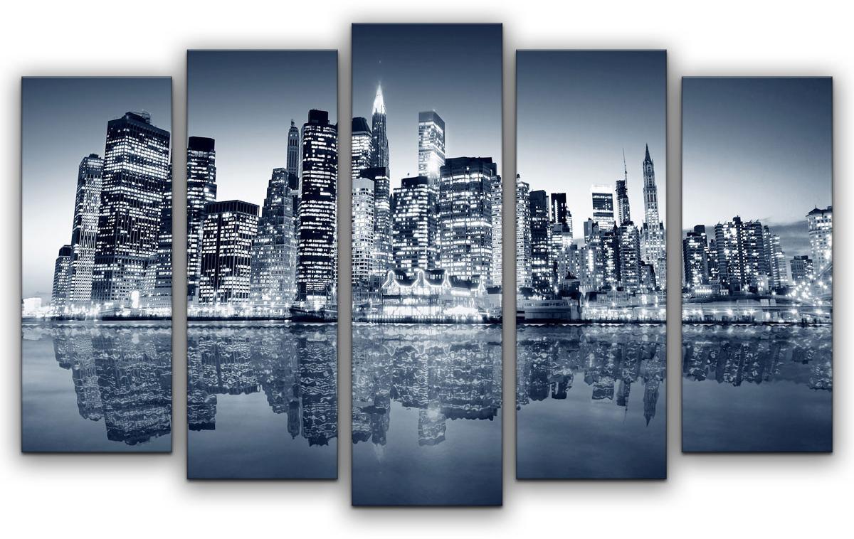 Картина модульная Картиномания Цвета большого города, 90 х 57 смАРТ-М801SВ состав входит комплект креплений и инструкция по креплению на стену.