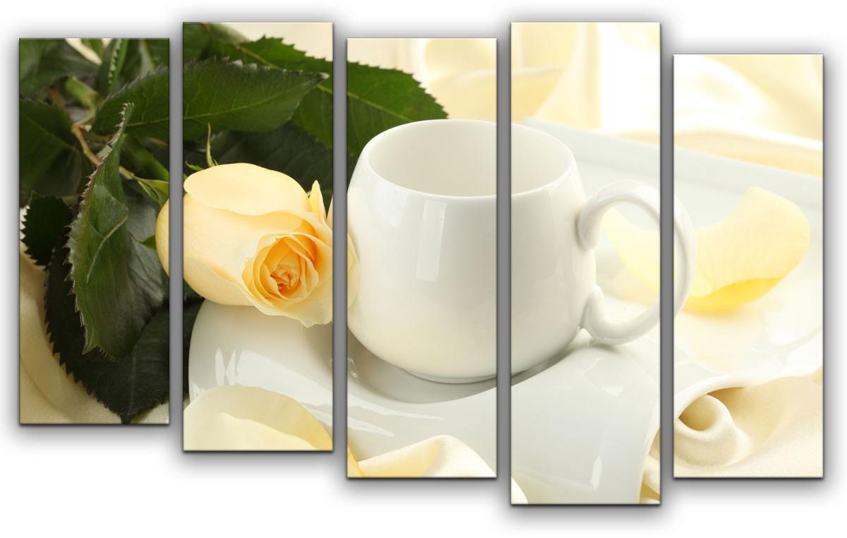 Картина модульная Картиномания Кремовая роза, 90 х 57 смАРТ-М812SВ состав входит комплект креплений и инструкция по креплению на стену.