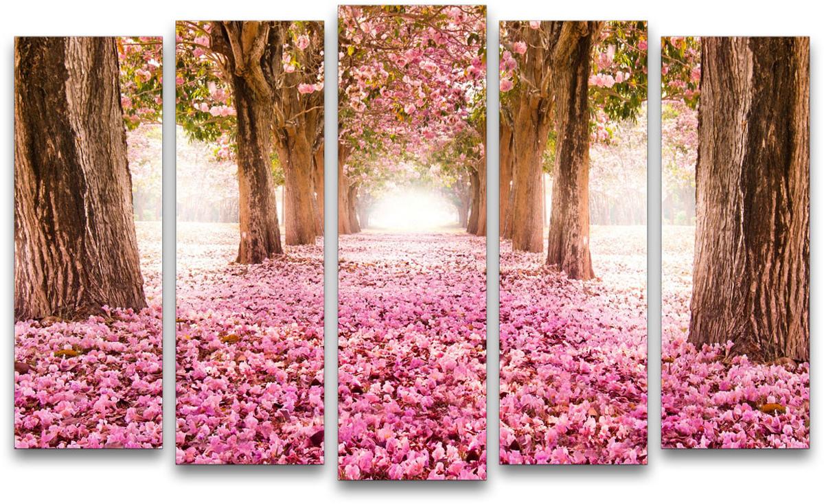 Картина модульная Картиномания Розовая пелена, 90 х 57 см картина модульная картиномания биг бен 90 х 57 см