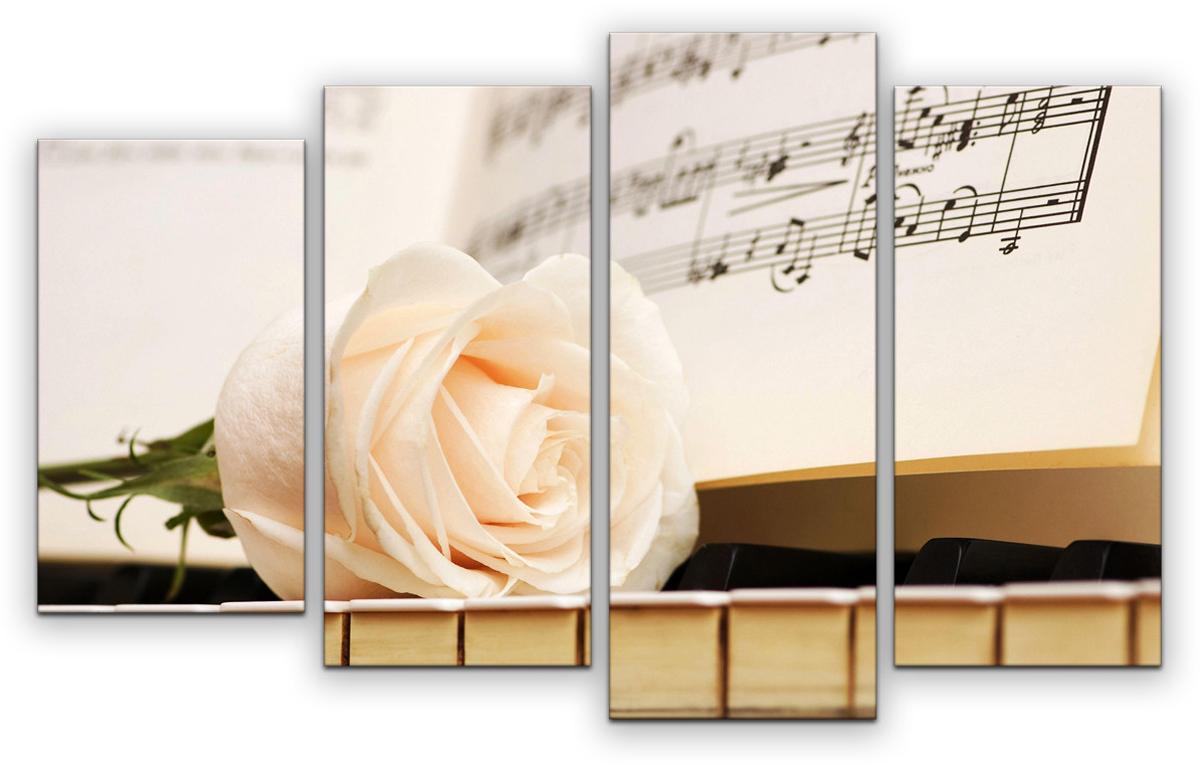 Картина модульная Картиномания Музыка жизни, 90 х 57 смАРТ-М867SМодульная картина Картиномания - это прекрасное решение для декора помещения. Картинасостоит из четырех модулей. Цифровая печать. Холст натянут на деревянный подрамникгалерейной натяжкой и закреплен с обратной стороны. Изделие устойчиво к выцветанию.Размер изображения: 90 x 57 см.В состав входит комплект креплений и инструкция по креплению на стену.Уход: можно протирать сухой мягкой тканью.
