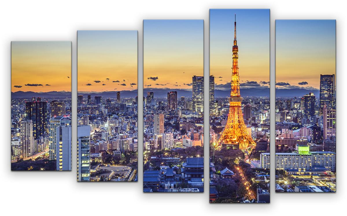 Картина модульная Картиномания Париж в цвете, 90 х 57 см