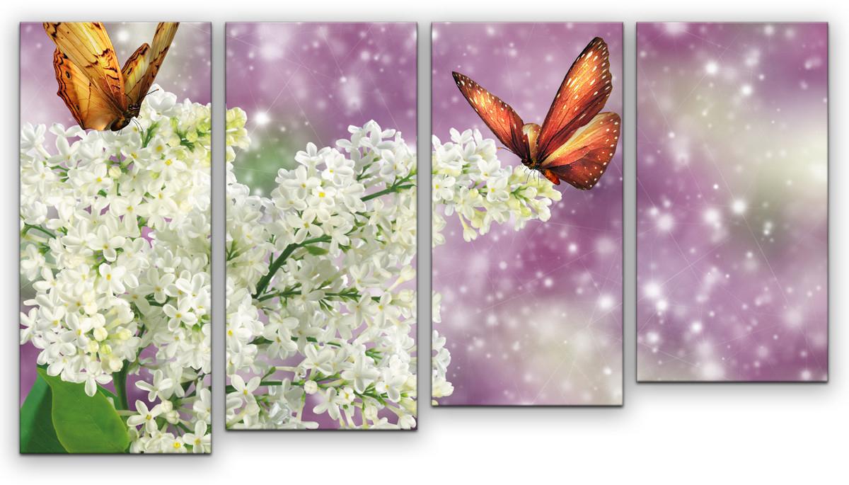 Картина модульная Картиномания Бабочки, 90 х 50 см модульная картина primanova poppy 50 50 см